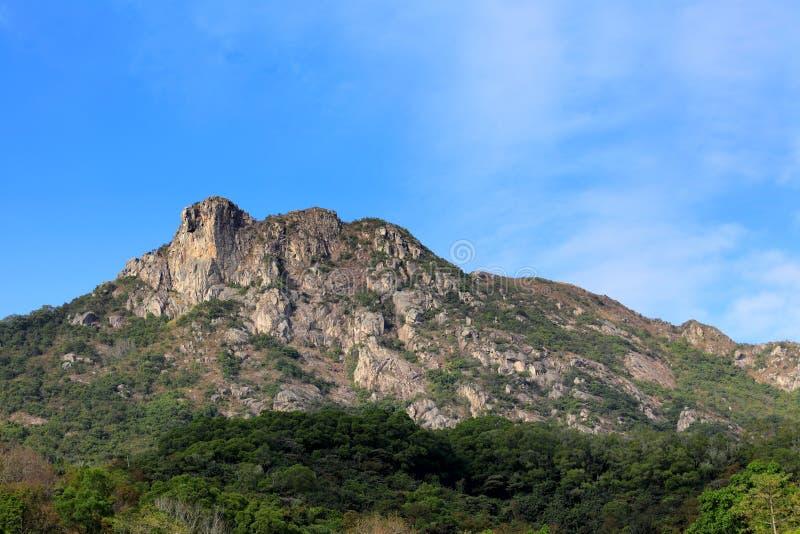 Lion Rock en Hong Kong photographie stock