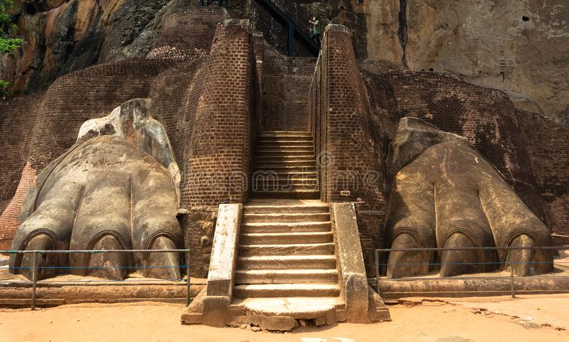 Lion Rock Fortress en Sigiriya, Sri Lanka imagenes de archivo