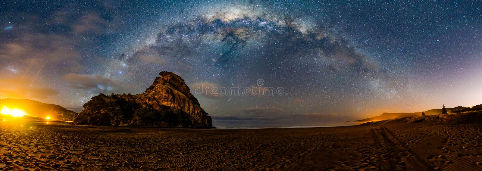 Lion Rock Milky Way royalty free stock image