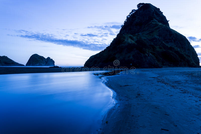 Lion Rock, Piha Beach royalty free stock photos
