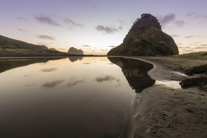 Lion Rock, Piha stock photography