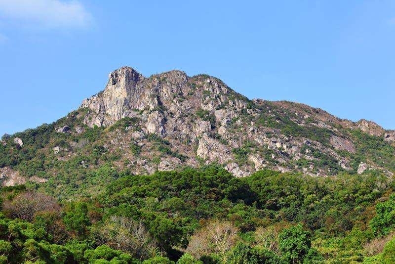 Lion Rock, symbool van Hong Kong-geest stock afbeeldingen