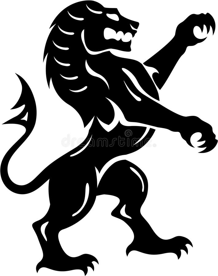 Lion Royal Beast Vector royaltyfri illustrationer