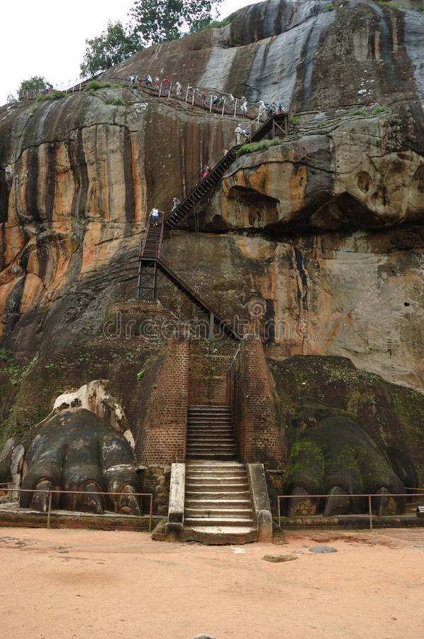 Lion's Gate at Sigiriya - Sri Lanka stock photo