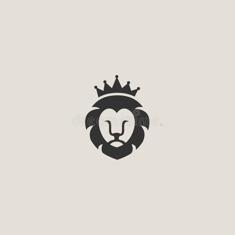 The lion`s head stock photography