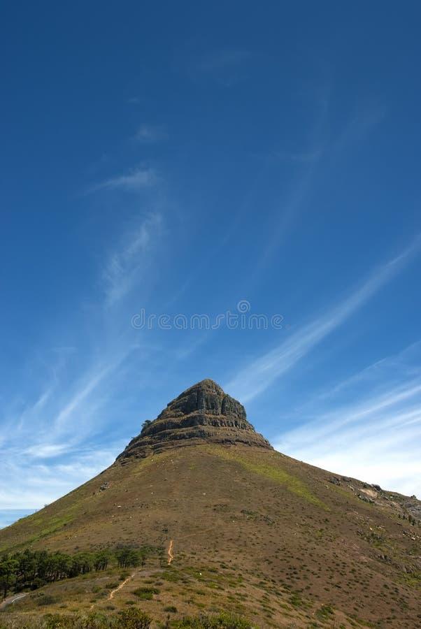 Lion's head mountain peak royalty free stock photo
