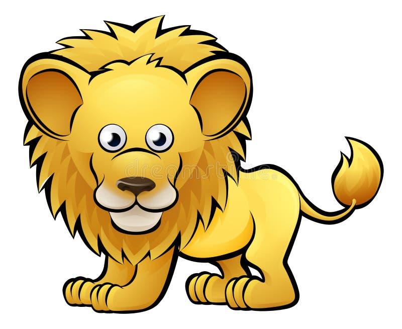 Lion Safari Animals Cartoon Character royalty free illustration