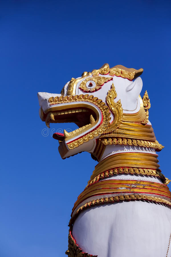 Lion Sculpter royalty free stock photo