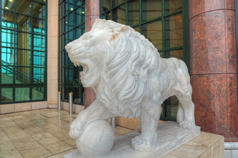 Download Lion sculpture stock photo. Image of central, building - 27931800