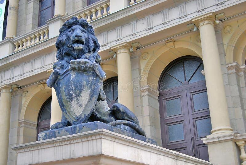 Lion Sculpture imagem de stock royalty free