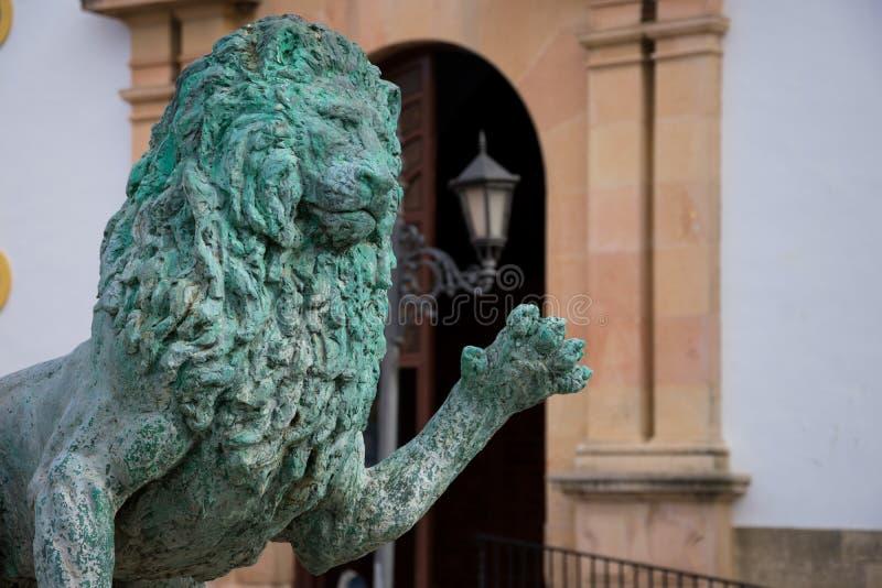 Lion Sculpture de Hercules Fountain chez Socorro Square images libres de droits