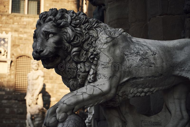 Lion Sculpture arkivbild