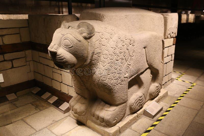 Lion Sculpture no museu de civilizações anatólias, Ancara imagem de stock royalty free