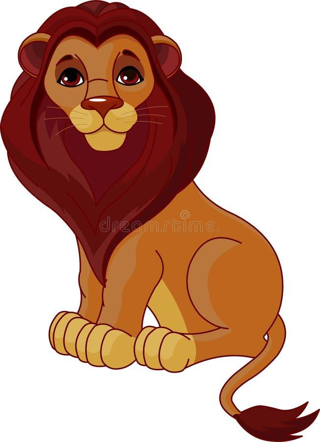 Lion se reposant illustration libre de droits