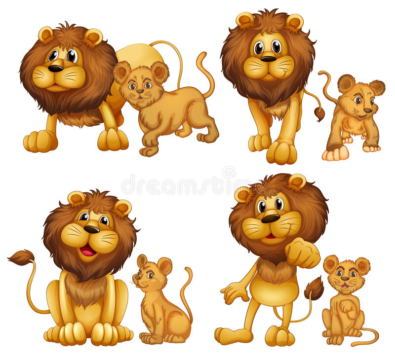 Lion set stock illustration