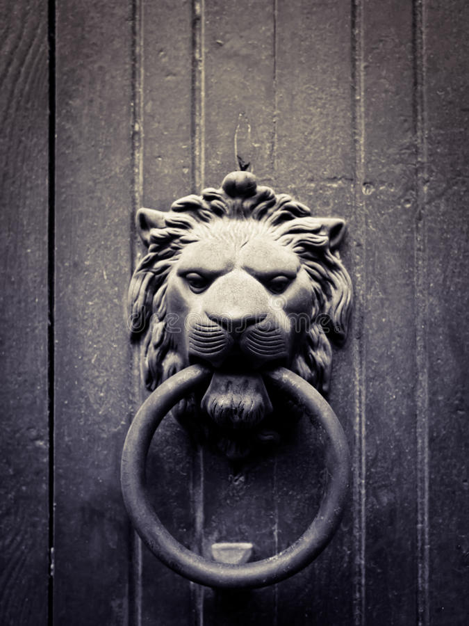 Free Lion-shaped Door Knocker Stock Photos - 21387973