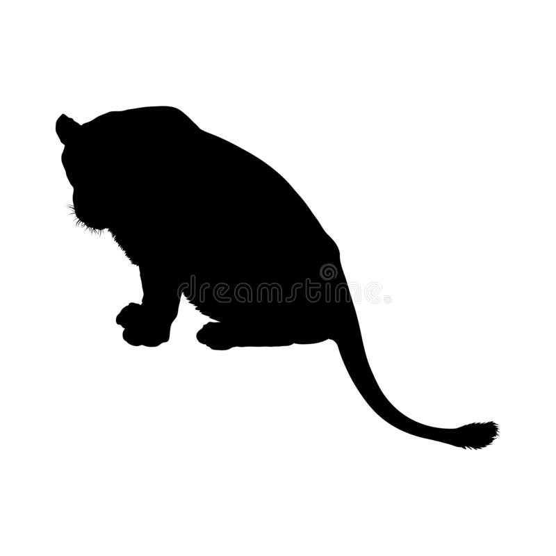 Lion Silhouette royalty free illustration