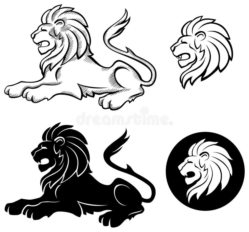 Download Lion Siluette stock vector. Image of mystery, drawing - 11240816