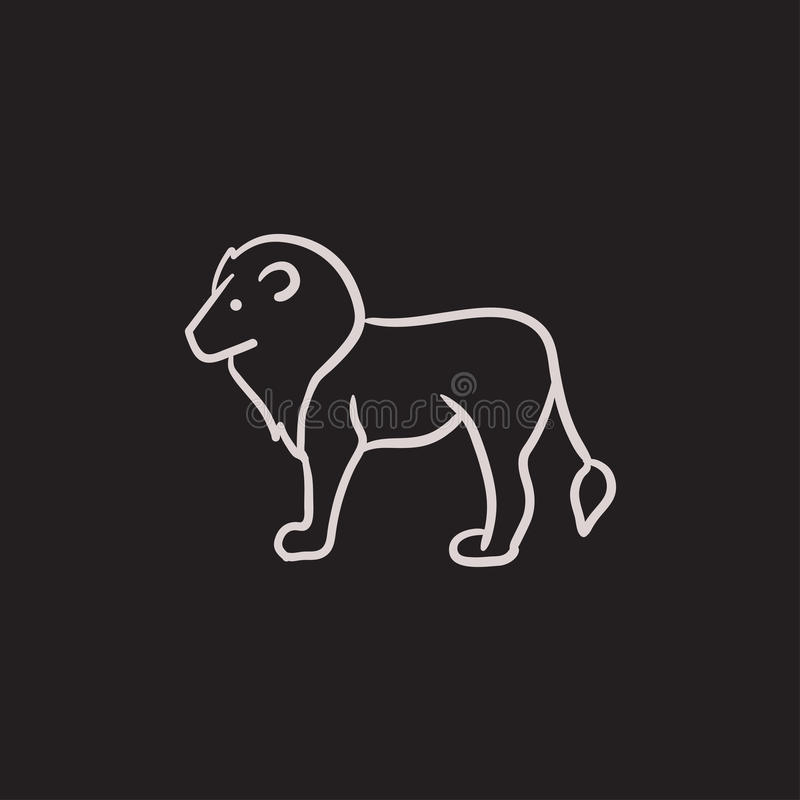 Lion sketch icon. royalty free illustration