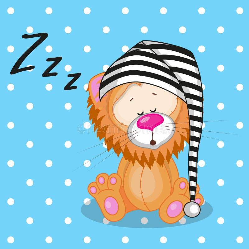 Lion somnolent illustration stock