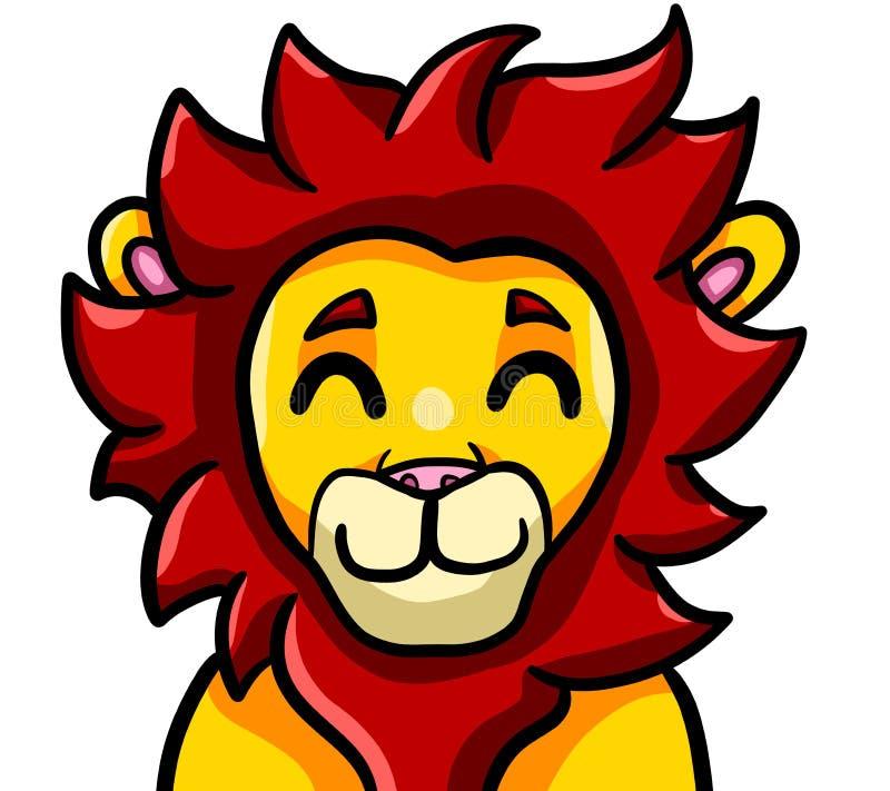 Lion With Spiky Fur adorable libre illustration