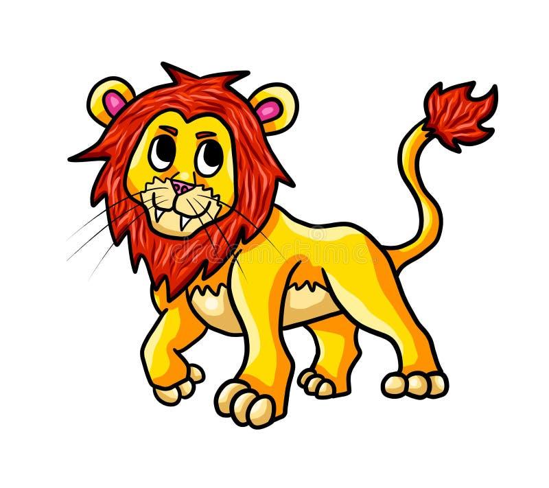 Lion With Spiky Fur feliz libre illustration