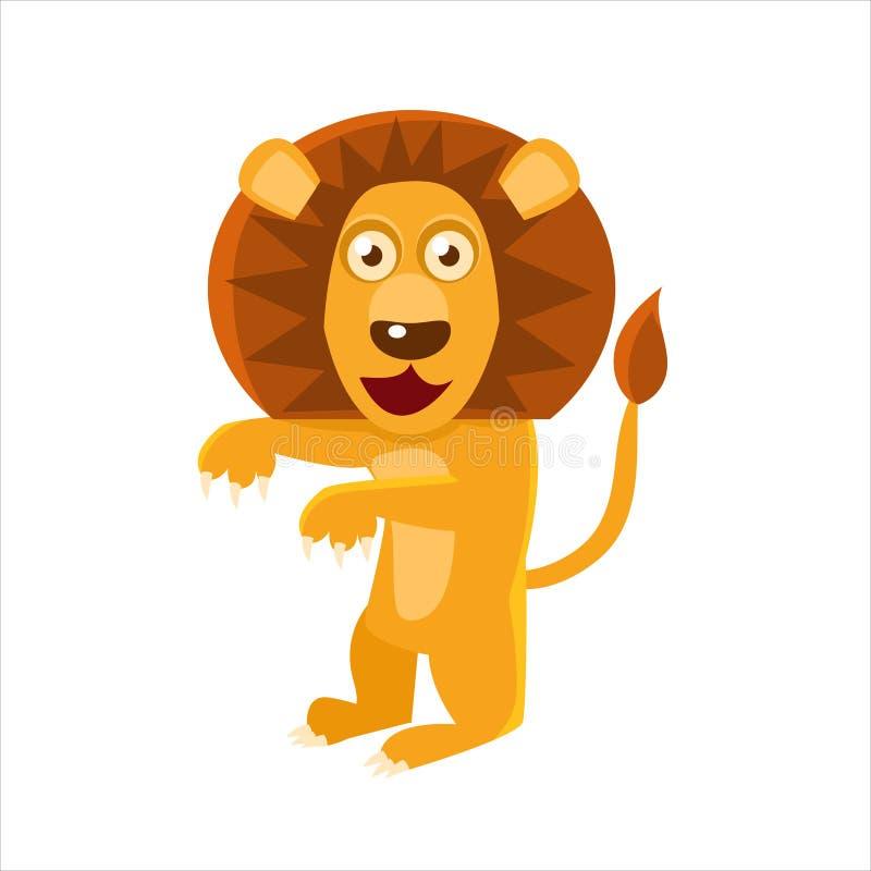 Lion Standing umanizzato illustrazione vettoriale