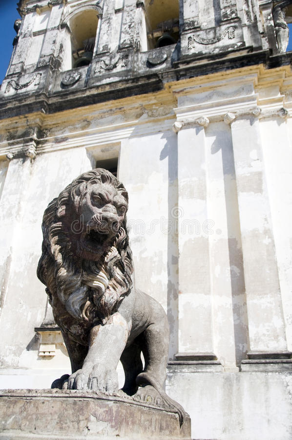 Download Lion Statue Cathedral Of Leon Nicaragua Stock Photo - Image of lion, historic: 23263896