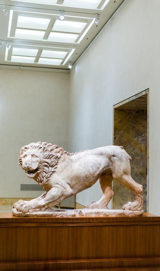 Lion Statue dalla Grecia fotografia stock