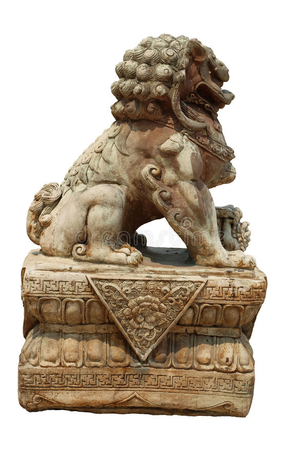 Lion statue, symbol of protection and power royalty free stock photo