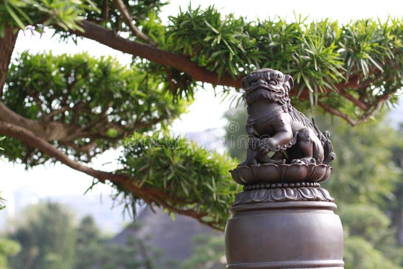 Lion Statues royaltyfria foton