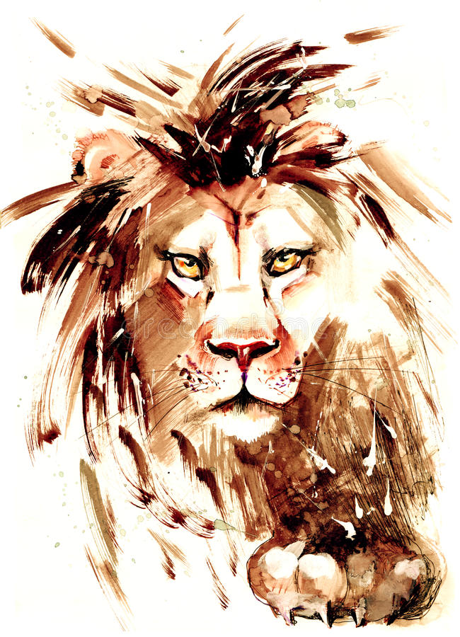 Lion. Strong intelligent king of beasts vector illustration