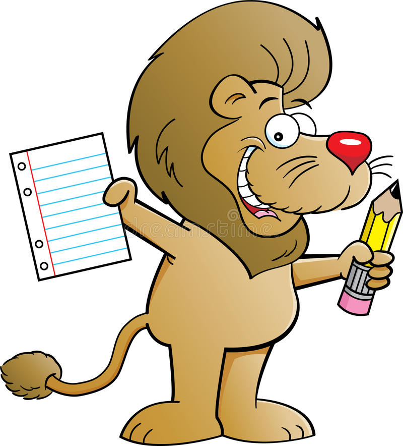 Download Lion Student stock vector. Image of mammal, humorous - 26294019