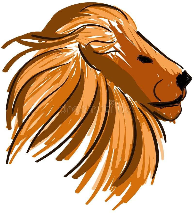 Lion stylisé d'isolement illustration de vecteur