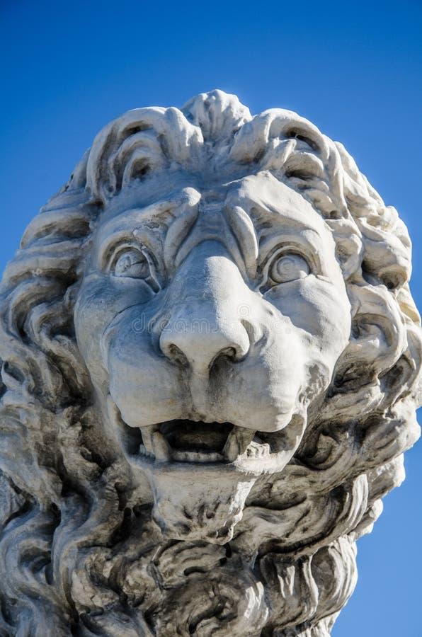 Lion sur le pont de lions à St Augustine la Floride image libre de droits