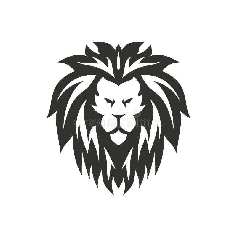 Lion Symbol Isolado no fundo branco ilustração royalty free