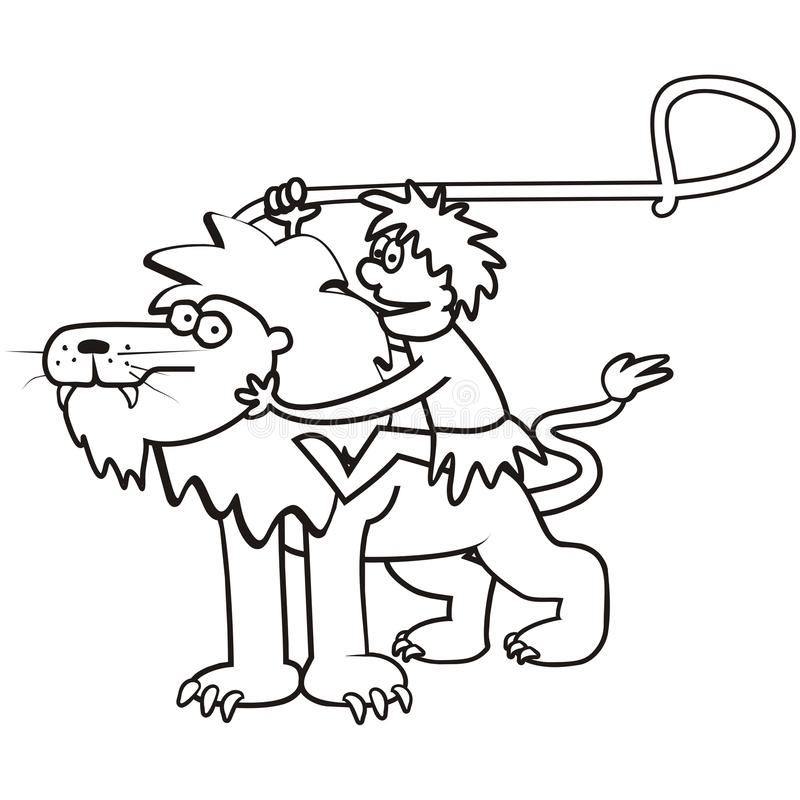 Download Lion And A Tamer Stock Vector Illustration Of Baby