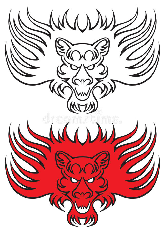 Download Lion tattoo stock vector. Image of symbol, jaws, lion - 17292685