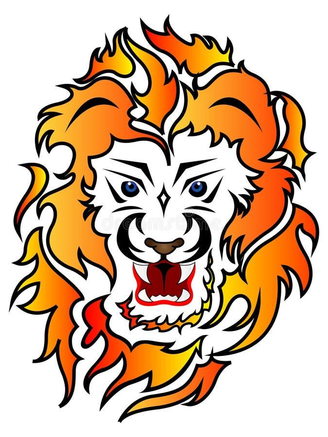 Lion Tattoo Design illustration de vecteur