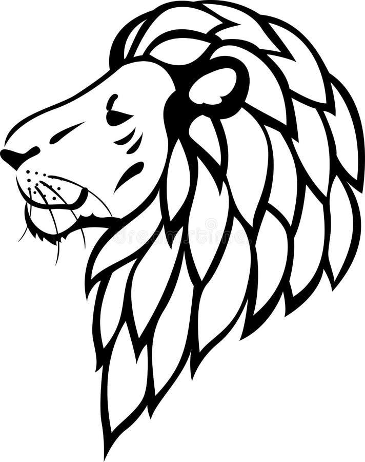 Lion tribal tattoo