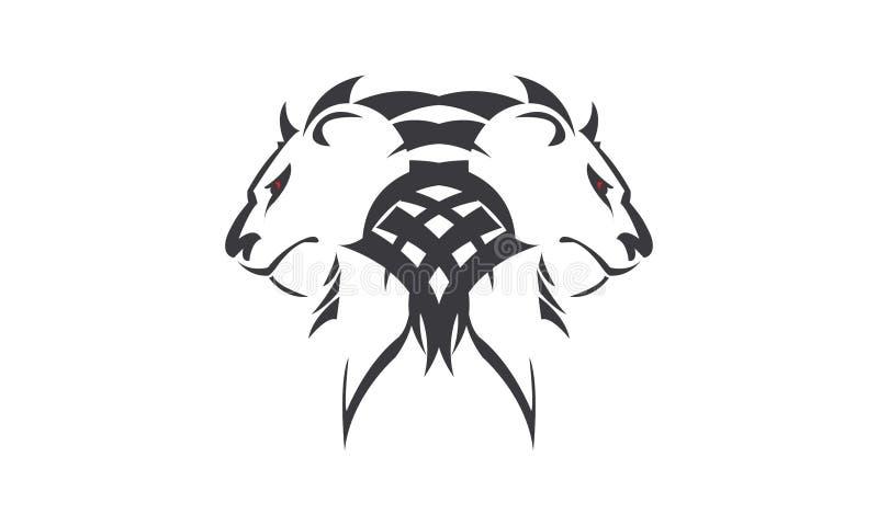 LION TWINS stock illustration
