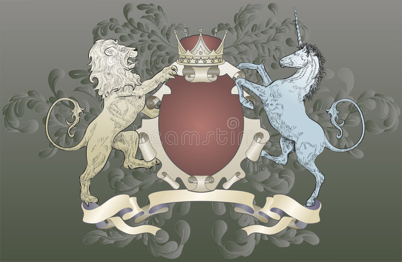 Download Lion And Unicorn Coat Of Arms Stock Vector - Illustration: 3076556