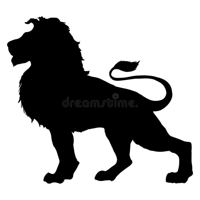 Lion vector illustration black silhouette vector illustration