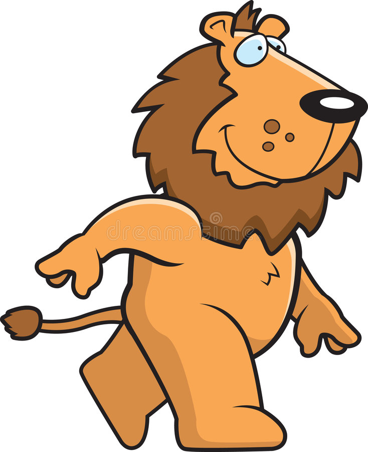Download Lion Walking stock vector. Image of animal, happy, lion - 6236996