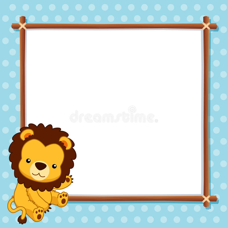 Free Lion With White Blank Stock Image - 27196581