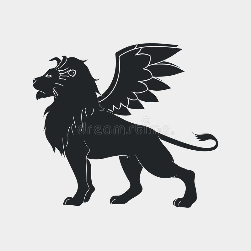 Free Lion With Wings Icon. Winged Leo, Logo Template. Vector. Royalty Free Stock Photos - 105598008