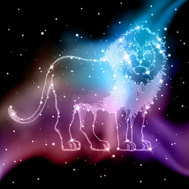 Lion Zodiac. An illustration of a lion zodiac constellation vector illustration