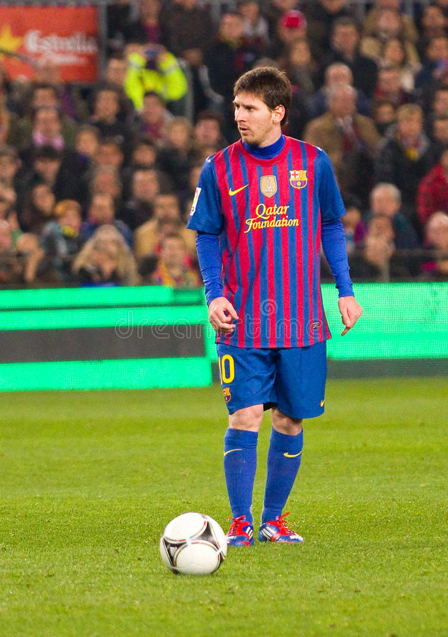 Lionel Messi photographie stock