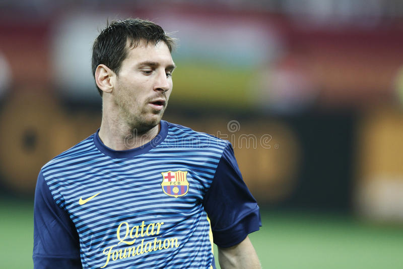 Lionel Messi imagens de stock