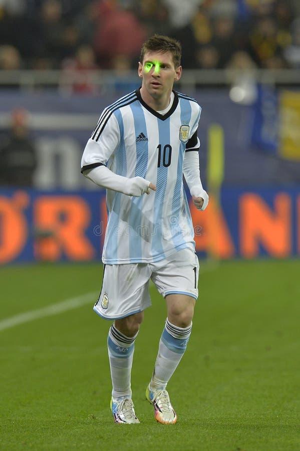 Lionel Messi dokuczał z laserem obraz royalty free